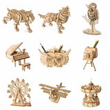 DIY 3D Wooden Animals & Building Puzzles - LAminifigs