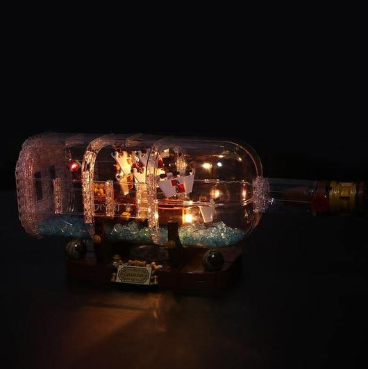 LED Light Kit For LEGO Ship in a Bottle Building Set - LAminifigs