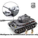 WW2 Military PZKPFW-IV War Tank set - LAminifigs