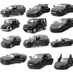 16 Styles 1:36 Black Matte Diecast Toy Cars - LAminifigs
