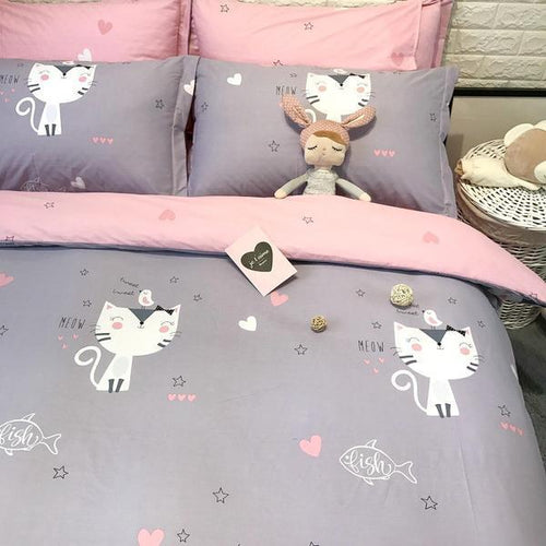 Zoo Kingdom Cats Kids Doona Cover Sets For Girls - zoo Kingdom