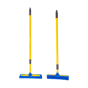 "Smart Broom® Combo 12"" Multi-Purpose Squeegee & 11"" Upright Multi-Surface Broom with Telescoping Handles"