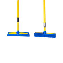 "Load image into Gallery viewer, Smart Broom® Combo 12"" Multi-Purpose Squeegee & 11"" Upright Multi-Surface Broom with Telescoping Handles"
