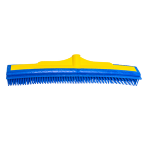 "Smart Broom® 16"" Multi-Purpose Squeegee Broom w/Telescoping Handle in Blue/Yellow"