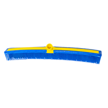 "Load image into Gallery viewer, Smart Broom® 16"" Multi-Purpose Squeegee Broom w/Telescoping Handle in Blue/Yellow"