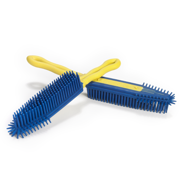 Smart Broom® Hand Brush Blue/Yellow (2 Brush Set)