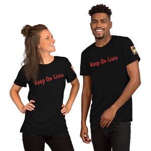 Keep on Living Tee w/ Back in The Dave Logo on Sleeve
