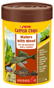 Sera Catfish Chips - Wafers with Wood
