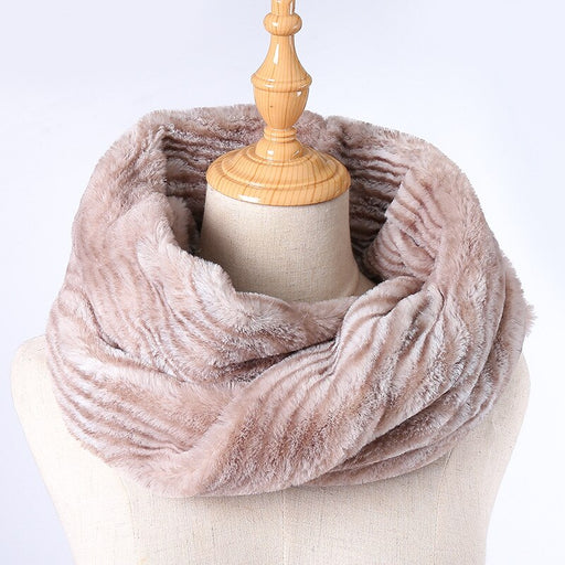 Fashion Knitted Imitation Cashmere Ring Scarf for