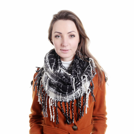 Women Ring Scarf Cashmere Soft Warm Winter