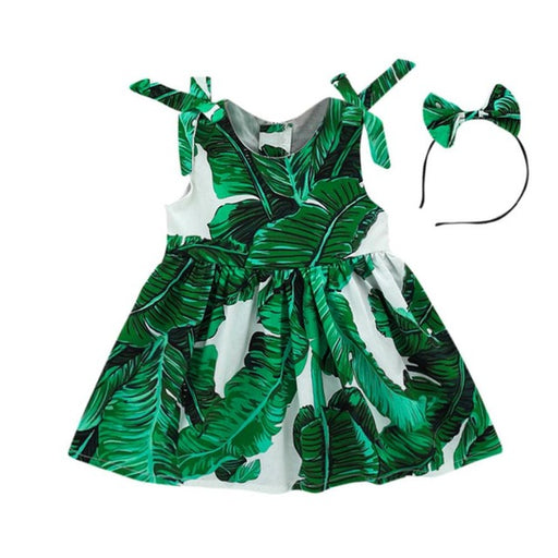 New summer dress Toddler Kids Baby Girls Leaves