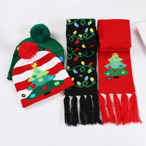 Long Scarf and Hat Set Unisex Christmas