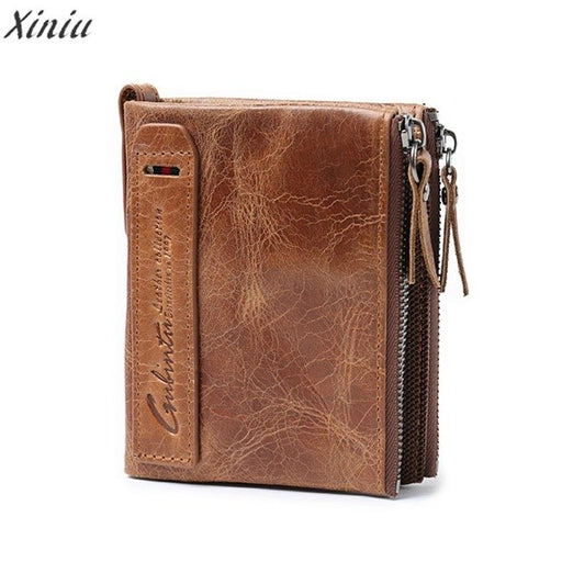 Top brand wallets Men Leather ID credit Card
