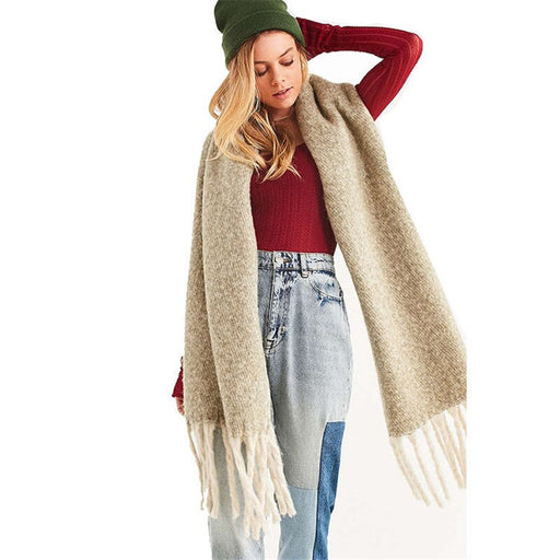 Women Shawl Scarf Autumn Winter Fashion Solid