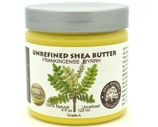 Unrefined Frankincense Myrrh Shea Butter calms and