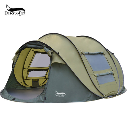 Pop-up Tent, 3-4 Person Outdoor Instant Setup Tent 4 Season Waterproof Tent for Hiking, Camping, Travelling