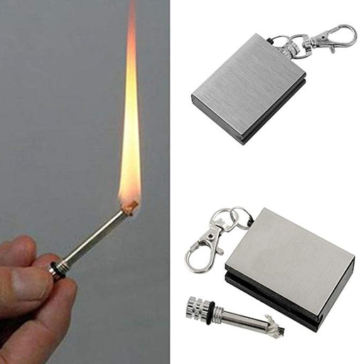 Stainless firestarter Outdoor Camping Flint Portable Keychain Survival tool Fire Starter