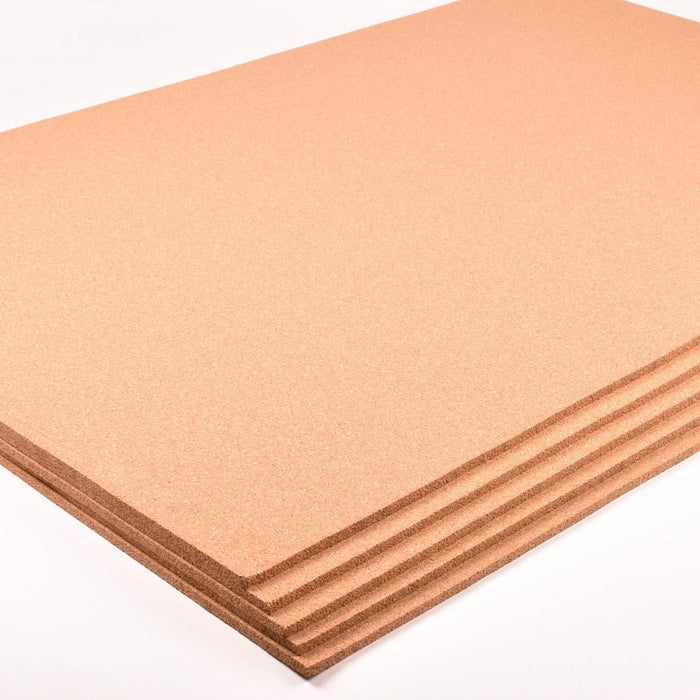 "5 Pack - Fine Grain Plain Cork Sheets 24"" X 36"""