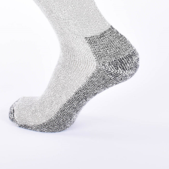 Kid Mohair Thermal Socks Mottled Grey - Unisex