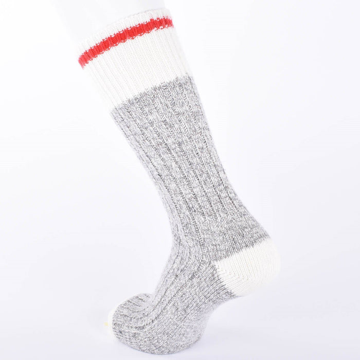 Duray Men's 3 Pack Grey/Red Work Socks Made of Wool