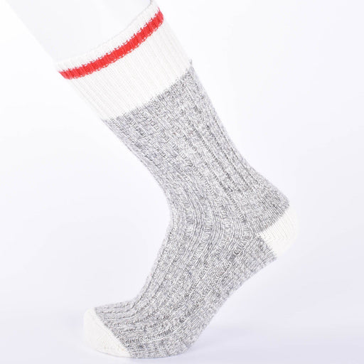 Duray Women's 3 Pack Grey/Red Work Socks Made of Wool