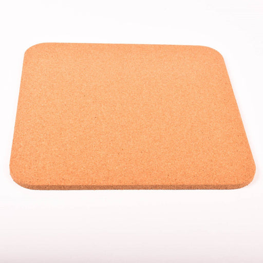 "Fine Grain Plain Cork Sheets 11"" X 11"" X 3/8"" Radius Corners"