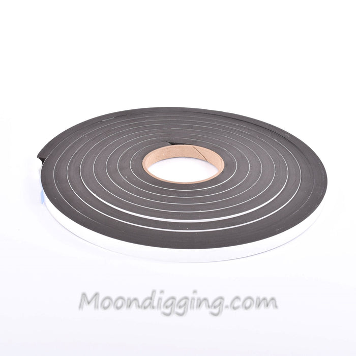 Sponge Neoprene Stripping W/Adhesive 1/2in Wide X 1/2in Thick X 15ft Long