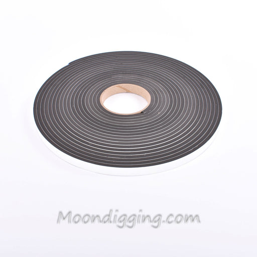 Sponge Neoprene Stripping W/Adhesive 1/2in Wide X 1/4in Thick X 37.5ft Long