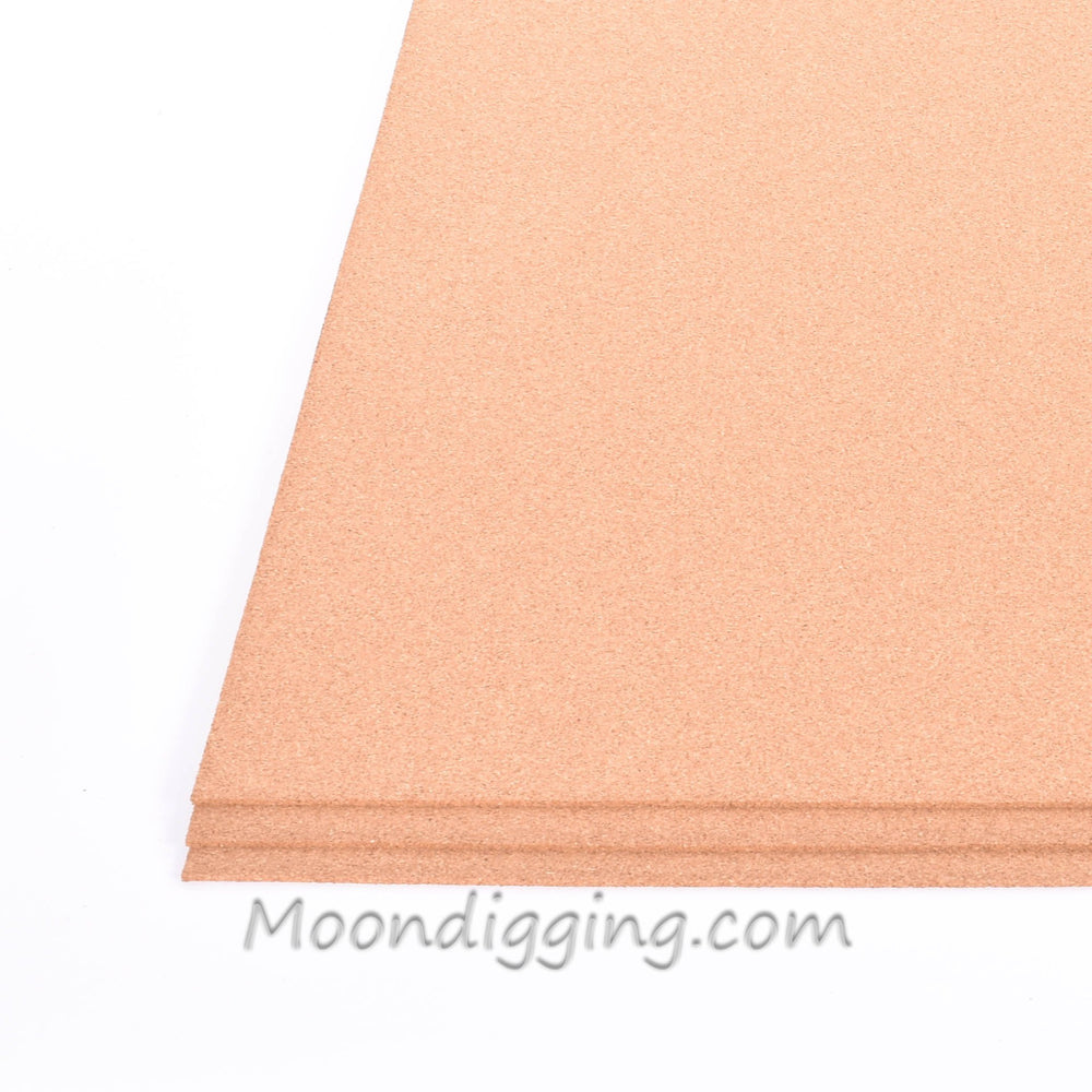 "3 Pack - Fine Grain Plain Cork Sheets 24"" X 36"""
