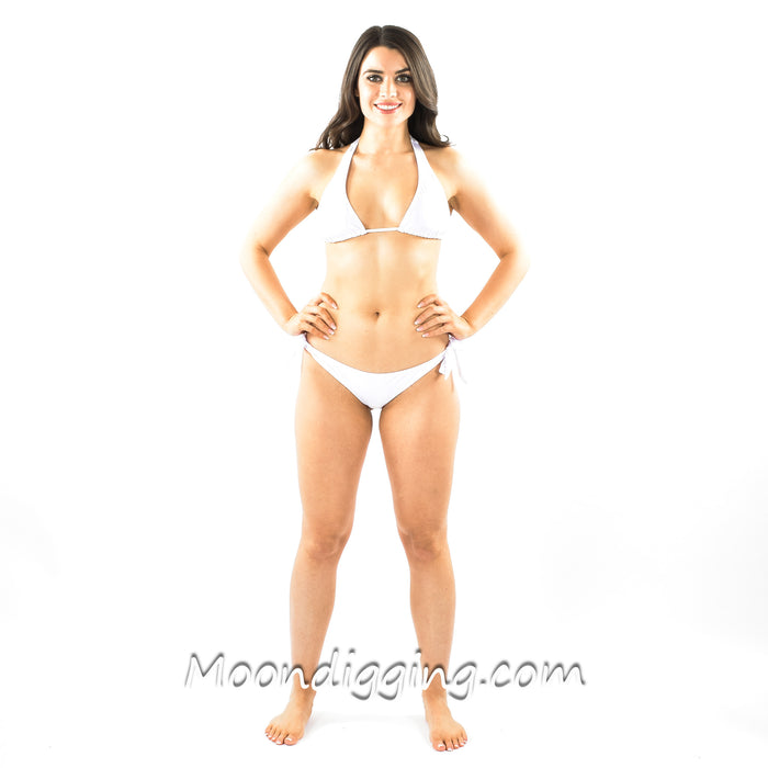 White Hot Halter Bikini Set