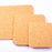 "Cork Square Trivets, Set of Three-6"", 8"", 9.8"""