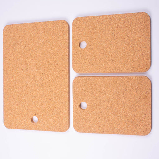 Cork CheeseBoard, 3 Piece Set