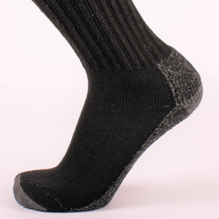 Kodiak Men's Black Soft Quarter Socks - 2 Pairs