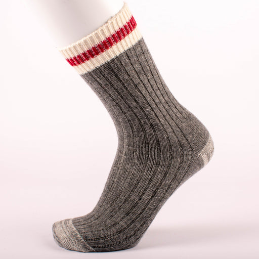 Kodiak Men's Grey and Red Comfort Socks - 2 Pairs
