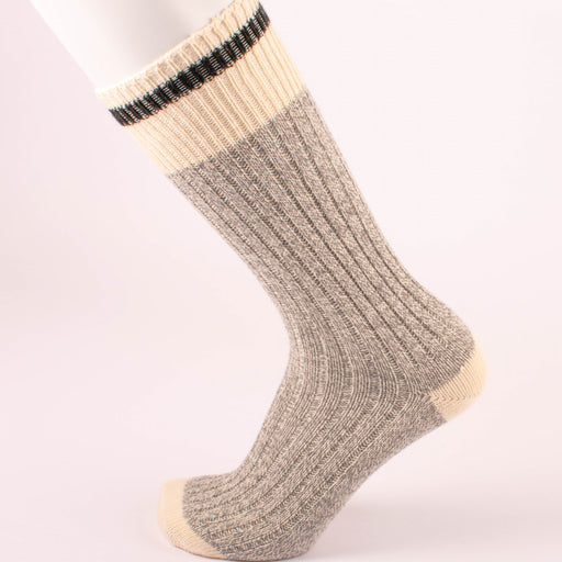Kodiak Men's Grey and Black Soft Crew Socks - 2 Pairs