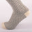 Kodiak Men's Grey and Natural Red Soft Crew Socks - 2 Pairs