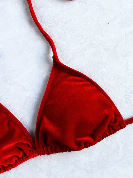 MDG Essential - Red Velvet Bikini Set