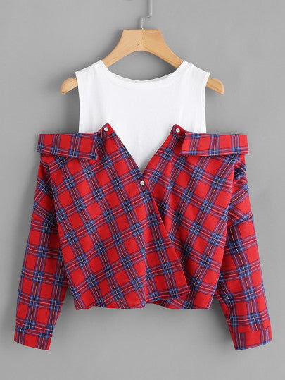 MDG Essential - Off-the-Shoulder Flannel
