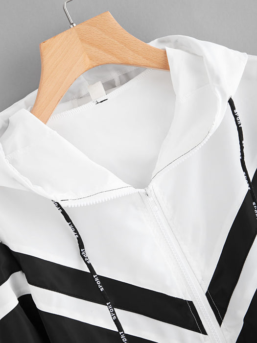 MDG Essential - Black and White Windbreaker