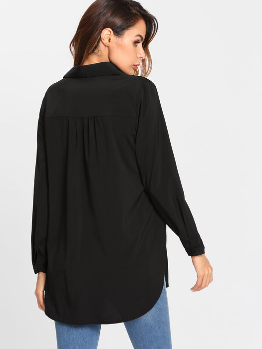 MDG Essential - Black Tunic Blouse