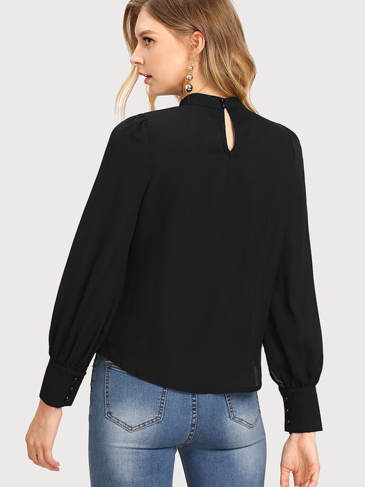 MDG Essential - High-Neck Blouse
