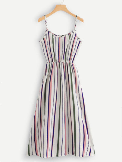 MDG Essential - Longline Striped Maxi Dress