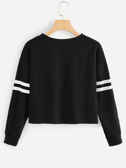 MDG Essential - Sporty Stripe Sweatshirt