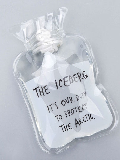 MDG Essential - Save the Icebergs Hot Water Bottle