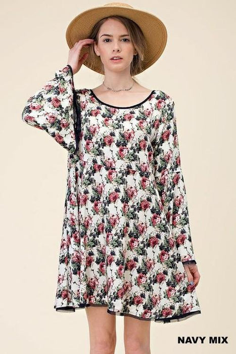 MDG Essential - Bell Sleeve Floral Dress