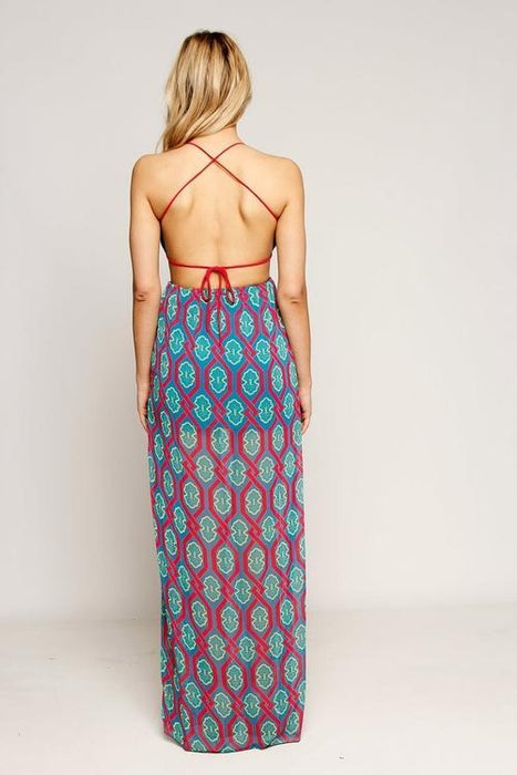 MDG Essential - Open Back Chiffon Maxi Dress