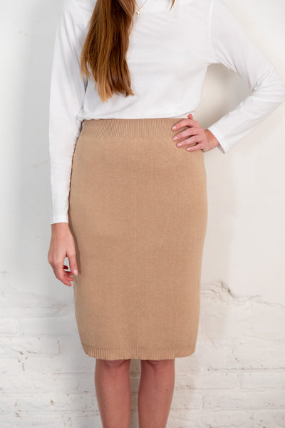 Fapun skirt brown. Organic woman skirt. The Nordic Leaves