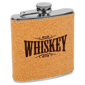 6 oz. Cork Stainless Steel Flask