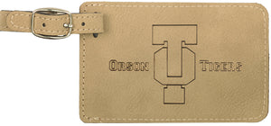 Light Brown Laserable Leatherette Luggage Tag
