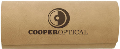 Light Brown Laserable Leatherette Eyeglass Case